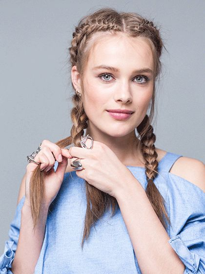 Enjoyable 1000 Ideas About One Sided Braid On Pinterest Reverse French Hairstyle Inspiration Daily Dogsangcom