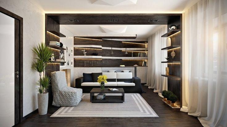 Дизайн уютных гостиных комнат - Контраст