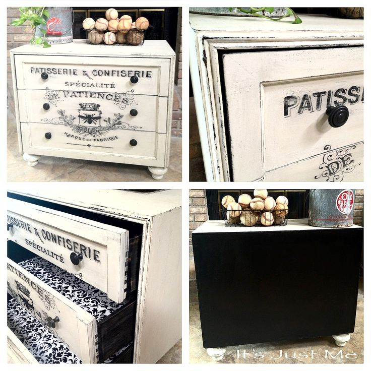 AFTER  ~~~  Deanna, from It's Just Me, and I couldn't love it more!  She put a lot of love into this beauty!  She found this 1960′s Americana dresser wh...