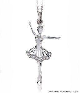 Tutù Gioielli collana in argento e zaffiri bianchi  modello sw-primavera www.demarchigianotti.com