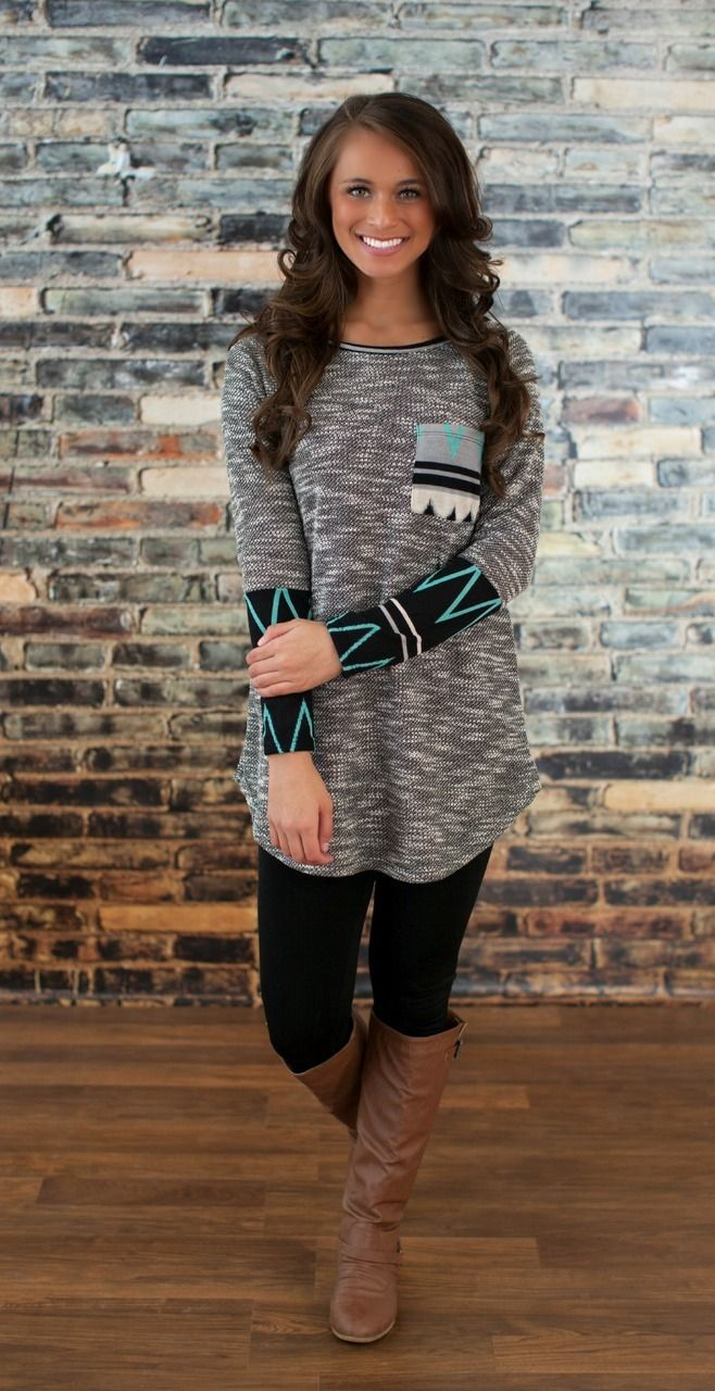 The Pink Lily Boutique - Falling Into Place Sweater Tunic, $36.00 (http://thepinklilyboutique.com/falling-into-place-sweater-tunic/)