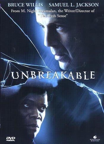 Thriller från 2000 av M Night Shyamalan med Bruce Willis och Samuel L Jackson.