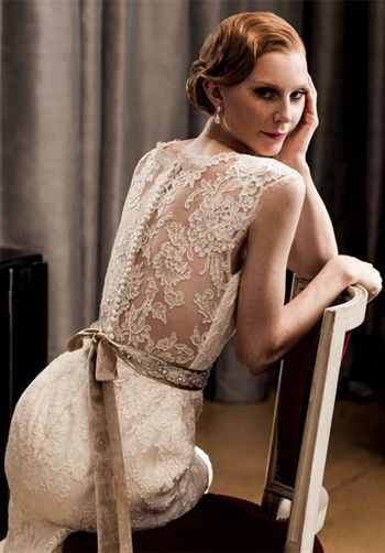 Love the lace and buttons