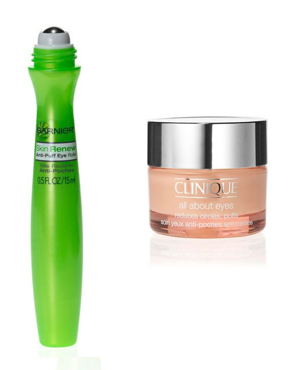 "The Best Eye Treatment Product From drugstores: Two-time winner! This ""cooling roller ball and soothing serum combo"" is a brilliant ""hangover cure."" Garnier Skin Renew Anti-Puff Eye Roller, $13,"