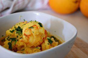 GAMBERONI ZAFFERANO E ARANCIA ricetta light. Antipasto o secondo piatto. Ricetta da preparare con il Bimby ma anche senza.