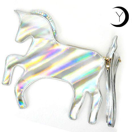 Holographic Unicorn Clutch / Across-the-Body Bag