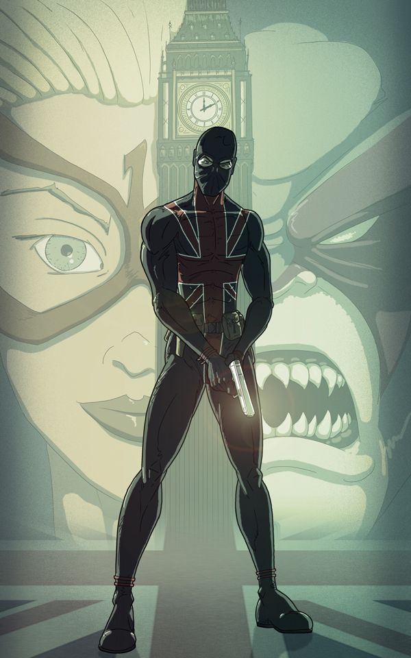 Union Jack, I have two of these comics (not this image though) hanging in my British Inspired stairwell.