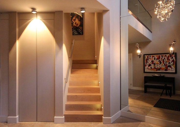 Stimmungsvolle Beleuchtung für das Treppenhaus #Beleuchtung #Lampe - led einbauleuchten küche