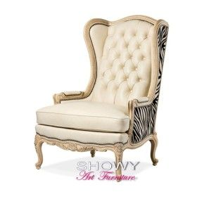 kursi mewah wing chair, kursi tamu, kursi mewah, kursi jok, kursi wing chair.. showy art furniture, kursi, kerusi,