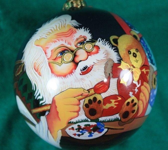 FIGI INSIDE ART SANTA CLAUS CHRISTMAS ORNAMENT