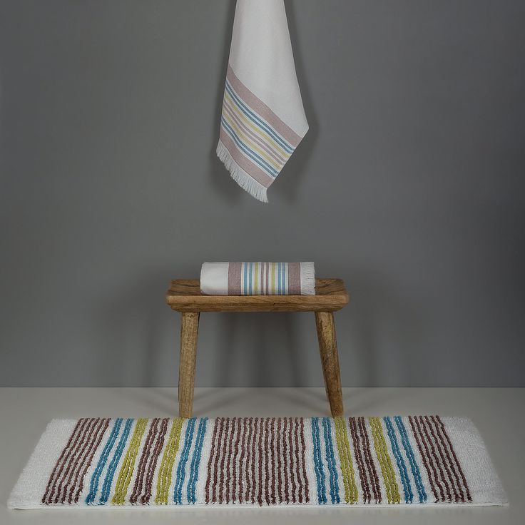 Cyprus bath towels and bath rugs. Part of our Dream Simplicity bath concept, with a minimalistic, but sophisticated and refined look.