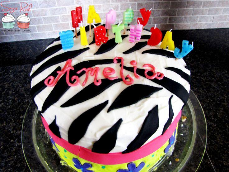 Zebra Fondant Cake