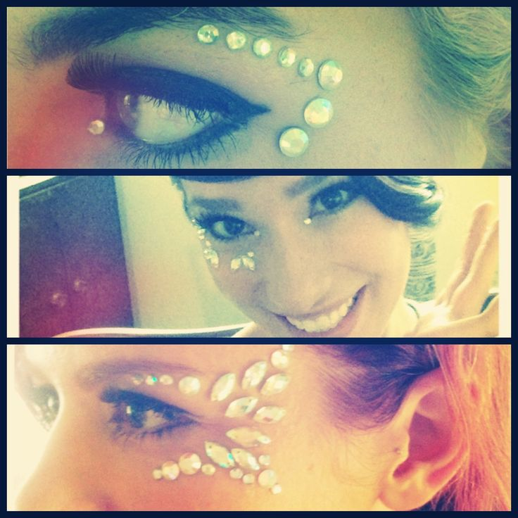 Jewels on faces!