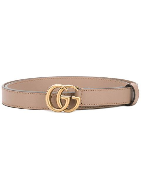 Shop Gucci double G buckle belt.