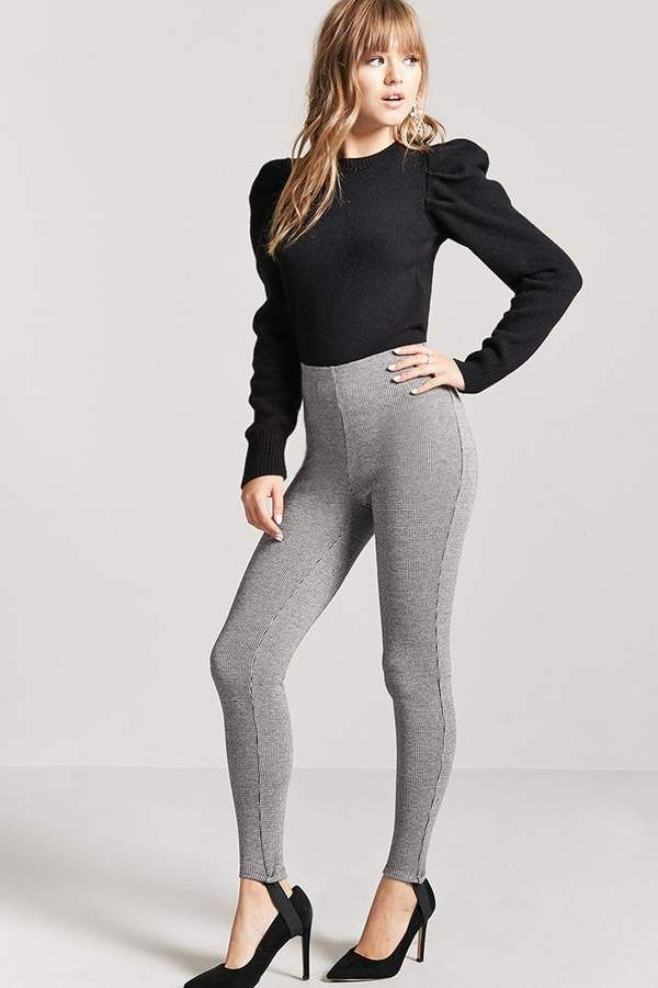 70640e9e7d1ce Forever 21 Houndstooth Stirrup Leggings | Beauty Style | Stirrup ...