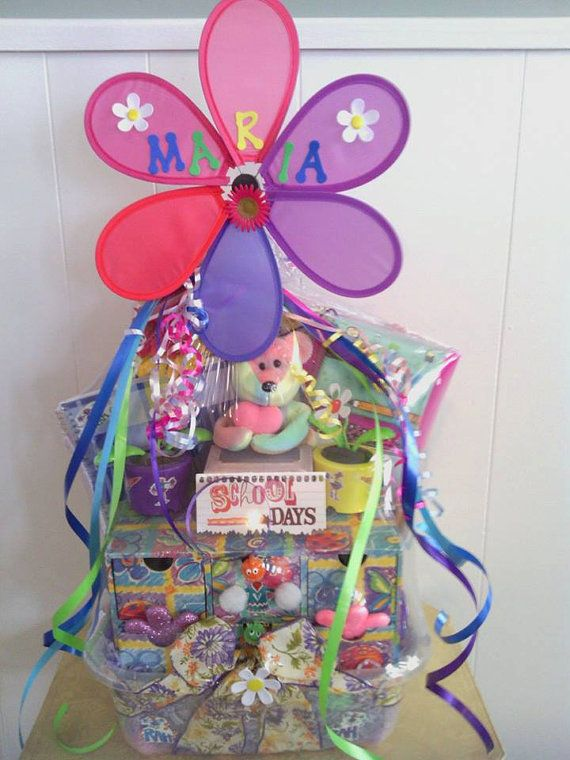 102 best diy gift baskets images on pinterest gift ideas lg handmade gift basket for young girl 55 etsy negle Choice Image