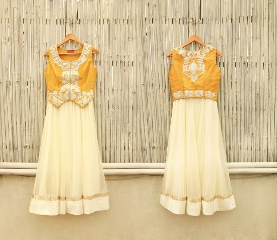 Yellow zari waistcoat online shopping India | AHARIN | Sweet Couch