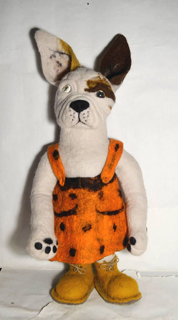 Dog doggy 2018 year symbol felted dog felt doll