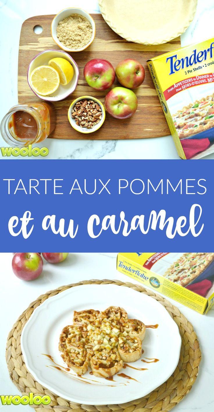 Servez la plus belle et délicieuse tarte aux pommes et au caramel dans un format tout a fait Wooloo! www.Tenderflake.ca  #TFTestKitchen #Tartifiez  #Pieifyit