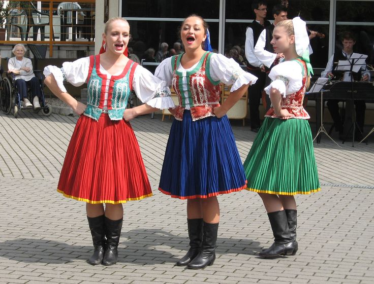 Costumes from Eastern Slovakia.