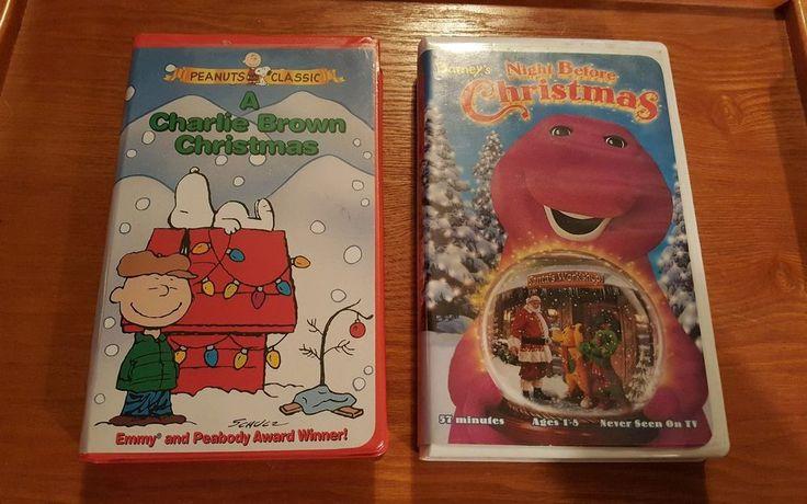 2 CHRISTMAS VHS TAPES Charlie Brown Christmas & Barney's Night Before Christmas