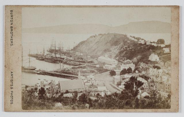 Port Chalmbers, Dunedin. 1870's. New Zealand.