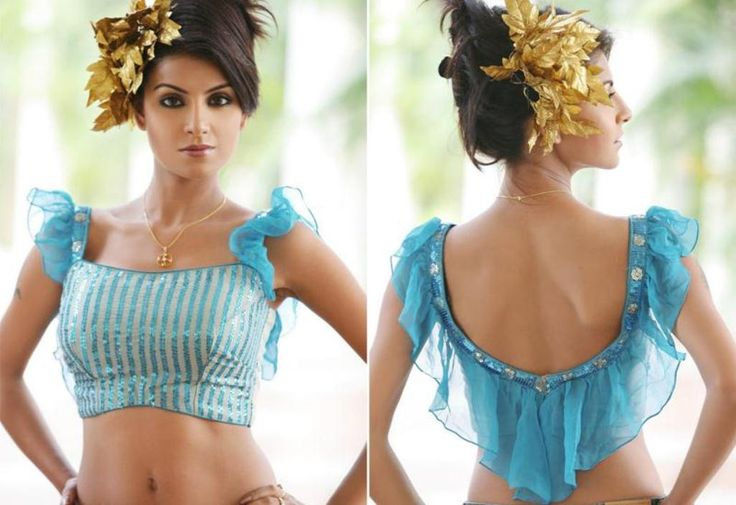 Saree Blouse Patterns In Modern Trends for Teenager