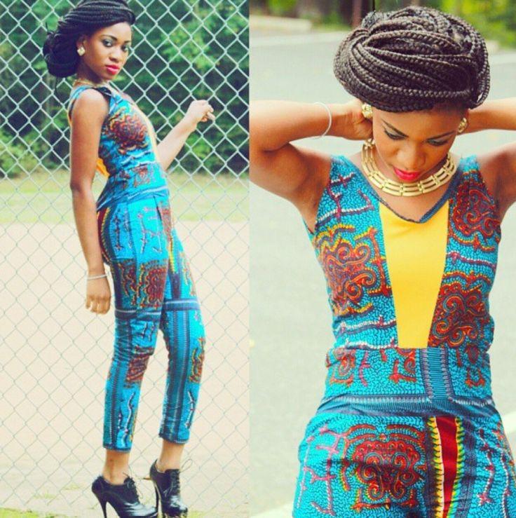 M.A.C.K BEAUTY AND FASHION: Fashion Focus- Ankara Jumpsuit