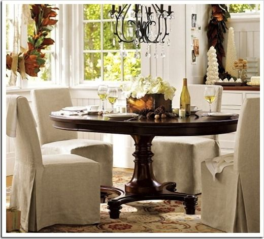 60 Round Dining Table Pottery Barn Hedgeway Dallas Decor