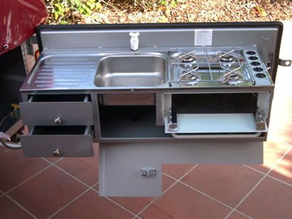 interesting... | Outdoor camping kitchen, Camper trailers ...