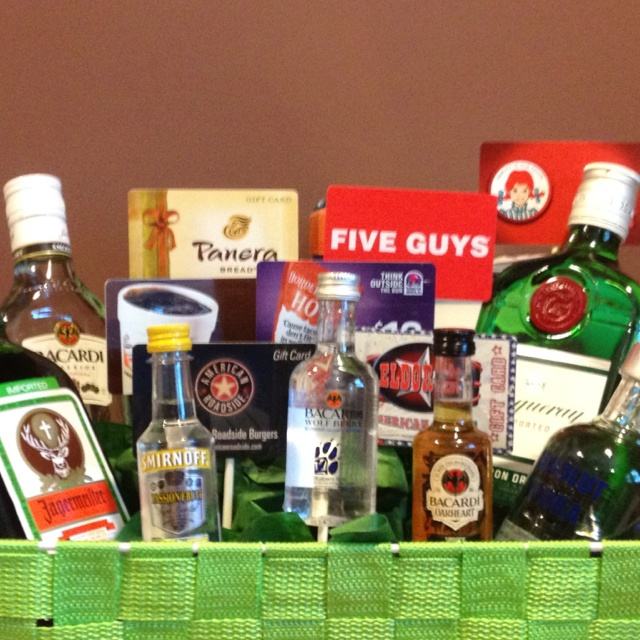 105 best super gift ideas images on pinterest cinnamon gift card and booze basket negle Images