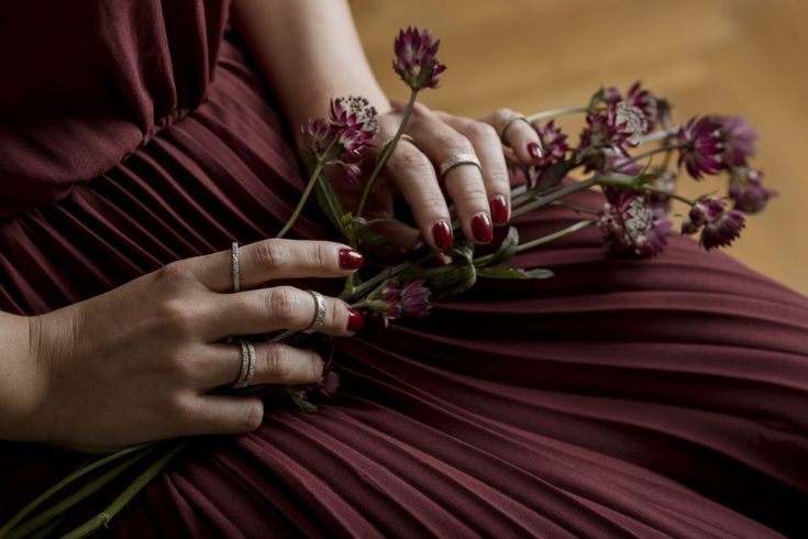The Mia Ring from The Margeret collection by BORIBIANKA. Inspiration for the Margaret collection comes from the nature. The designer searched for unique textures, shapes, forms and motives to create a special balance between style and material. All pieces are unique and hand-made.