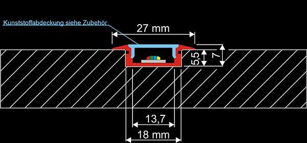 LED-Profilelement: ET-Flach