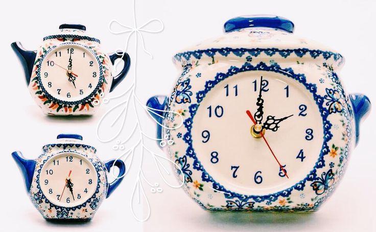 Необыкновенные часы / Unusual watches. Pottery Boleslawiec  #посударучнойработы #керамикаручнойработы #посуда #ceramics #pottery #polishpottery ceramic tableware   pottery   polish pottery   boleslawiec   посуда   керамическая посуда   польская керамика   польская посуда   болеславская керамика   керамика