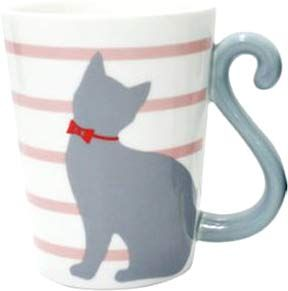 Cat Tail Mug Cup (Pink) $10.50 http://thingsfromjapan.net/cat-tail-mug-cup-pink/ #kawaii Japanese mug #cute cat mug #kawaii mug