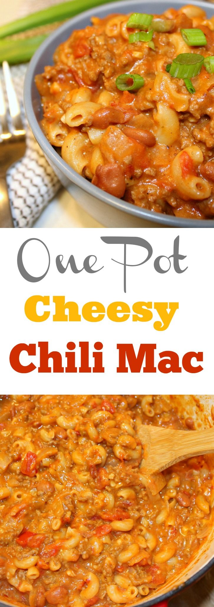 If your looking for an easy one pot meal, than you really need to try this One Pot Cheesy Chili Mac. It combines two of my favorite things, chili and mac and cheese. Perfect for a weeknight dinner for the family.