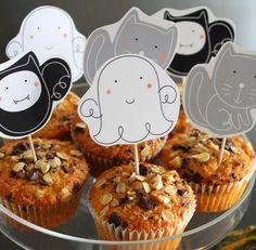 Dulces Toppers o etiquetas para Imprimir Gratis para Fiestas de Halloween.