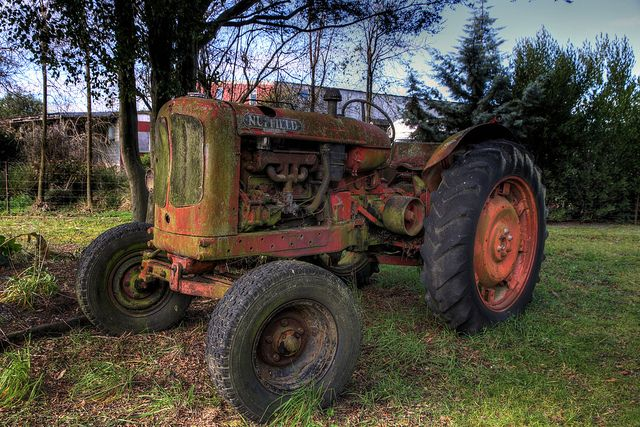 Old tractor, Canterbury, New Zealand by brian nz, via Flickr
