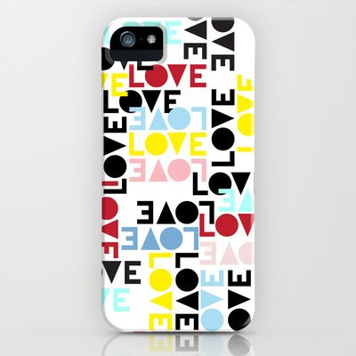 LOVE IS THE NEW BLACK iPhone  iPod Case by radis | Society6