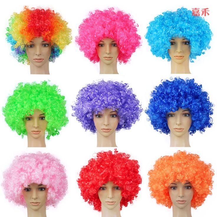 Perruque Courte Perruques Promotion Synthétique Perruques Cosplay Perruque Livraison Gratuite Pas Cher Vente Chaude 120g 15 couleur Afro Multicolore Fans
