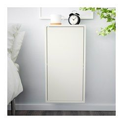 VALJE Wall cabinet with 1 door - larch white - IKEA