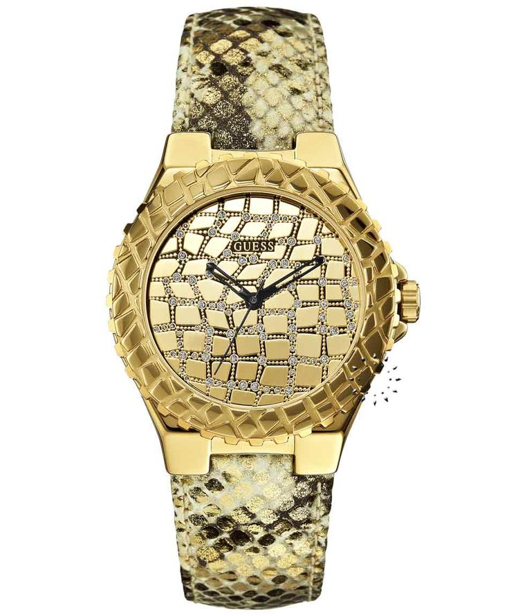 GUESS Crystal Gold Ladies Beige Leather Strap Η τιμή μας: 135€ http://www.oroloi.gr/product_info.php?products_id=35132
