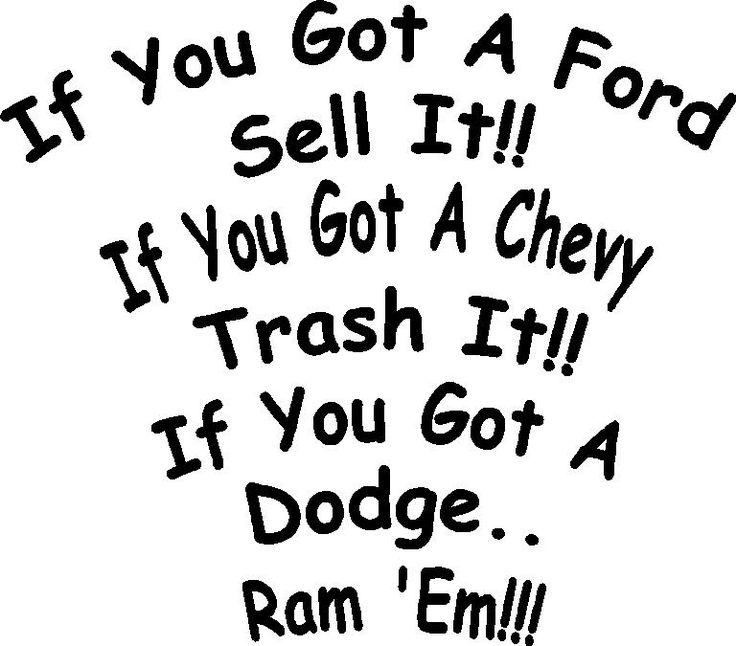 dodge truck sayings | All Dodge decals are made of