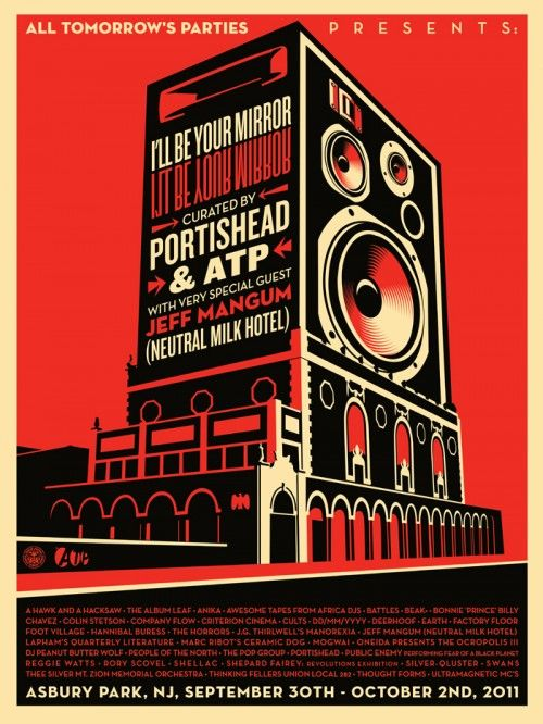 Shepard Fairey All Tomorrow's Parties Fest Poster - on sale now $50