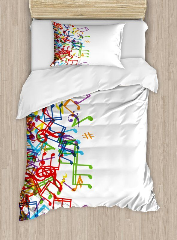 Copripiumino Note Musicali.Home Trippy Style Music Notes With Clef Rhythm Tempo Melody