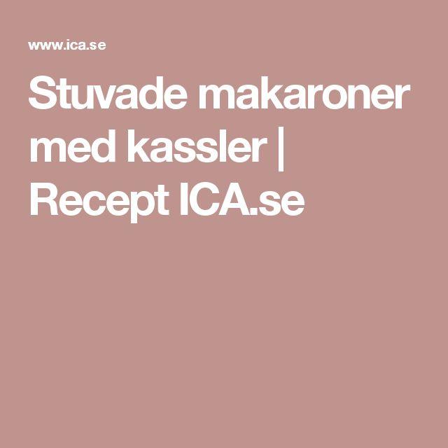 Stuvade makaroner med kassler | Recept ICA.se