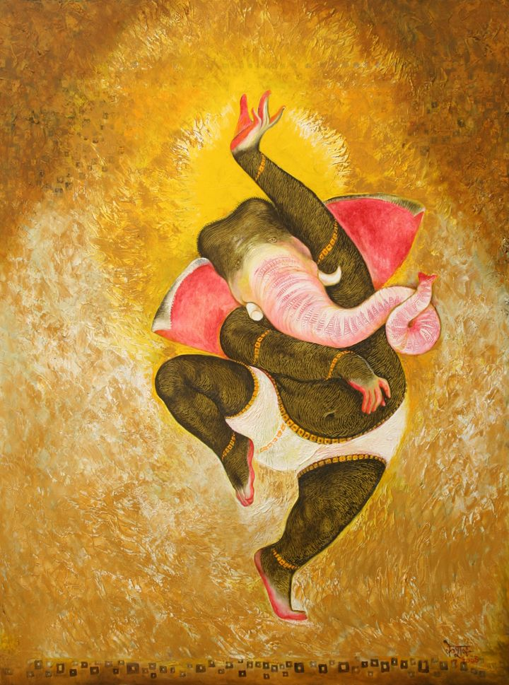 Ananda Vinayaka. oil on canvas.