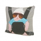 The Hangover baby Carlos recycled t-shirt pillow