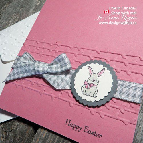 Ready for Easter? Make a cute bunny rabbit easter card in minutes! Gt my TIPS here! www.designwithjo.ca