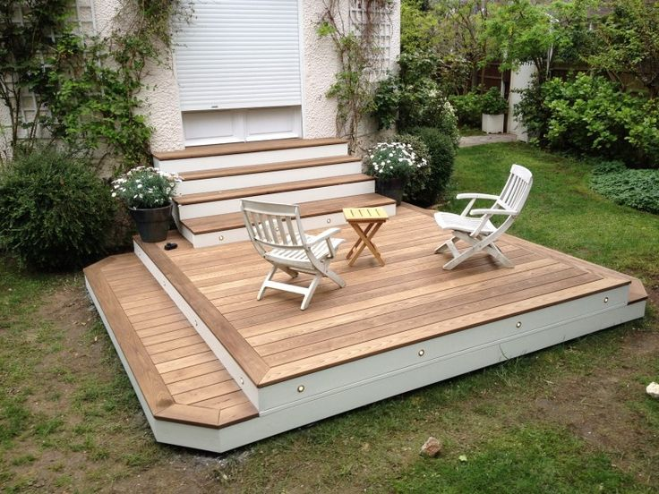 faire une terrasse en bois surelevee. Black Bedroom Furniture Sets. Home Design Ideas